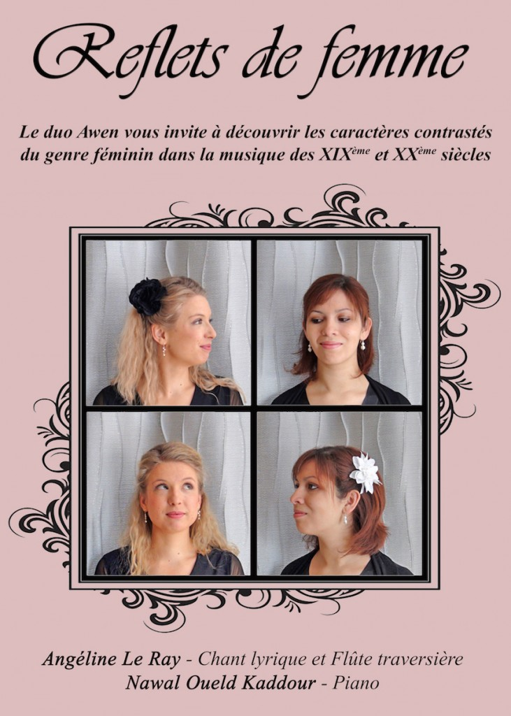 Affiche concert reflets femme bdef