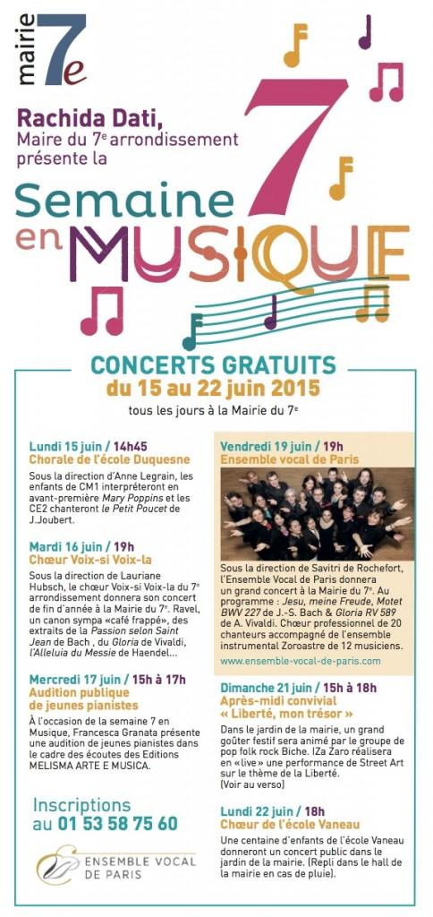 Concert avec l'Ensemble Vocal de Paris – juin 2015