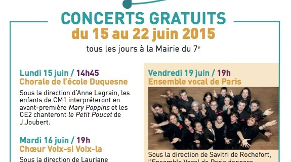 Concert avec l'Ensemble Vocal de Paris – juin 2015