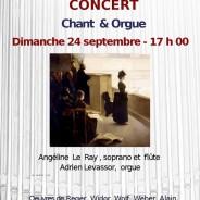 Concert au Temple d'Amiens – septembre 2017