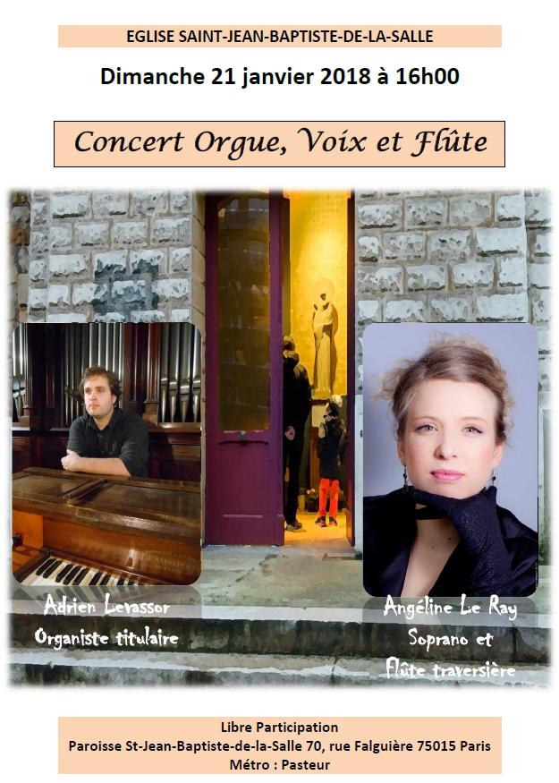 Concert avec orgue à Paris – janvier 2018
