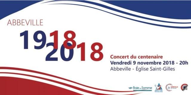 Concert à Abbeville – commémoration de la Grande Guerre – novembre 2018