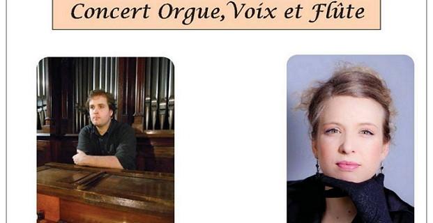 Concert orgue, voix et flûte – Paris – janvier 2019